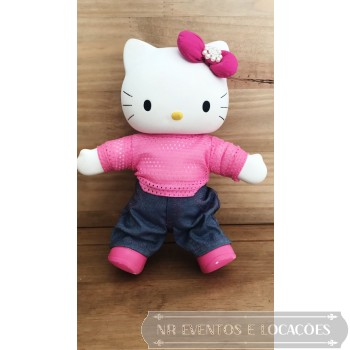 Hello Kitty - 28cm Rosa/laço pink