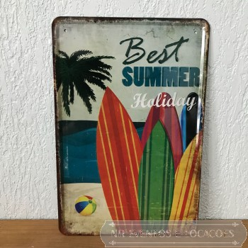Best Summer - Placa 30cm x 20cm Metal