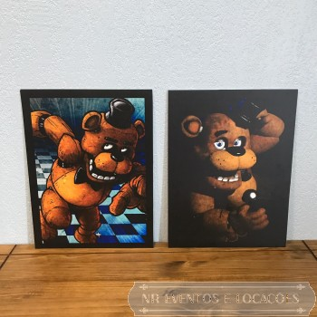 Five Nights at Freddy's - Recorte Painel Par 45cm (A) x 34cm (L) Modelo 1