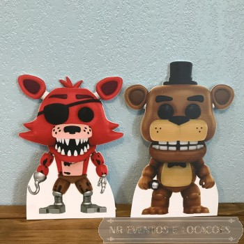 Five Nights at Freddy's - Recorte de Mesa Par 35cm/39cm (A) x 24cm/26cm (L) Modelo 1