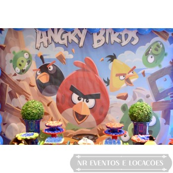Angry Birds - Painel de Fundo 2.8m (L) x 2m (A) Lona