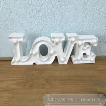 Love Branca - Placa luminosa 29.5cm (C) x 10cm (A) PVC