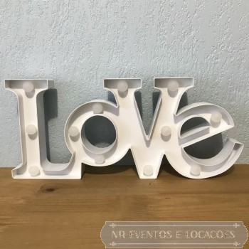 Love Branca - Placa luminosa 48cm (C) x 21cm (A) PVC