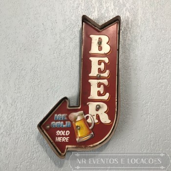 Placa Luminosa Beer M1 - 42cm x 22cm