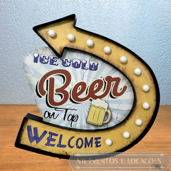 Placa Luminosa Beer G1 - 47cm x 43cm