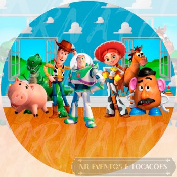 Toy Story - Painel Redondo Tecido 1.3m (D)