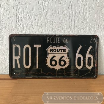 Route Placa 30cm (L) x 16cm (A) Metal