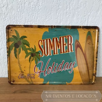 Summer Holiday - Placa 30cm x 20cm Metal